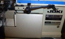 Yuki 5 thread serger Model 2516, dont know how old. Can use for 3 thread or 5 thread. buy or trade for small 3 thread or 4 thread serger. some extra thread included.